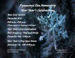 2019 New Years Celebration Ryumonji Zen Monastery