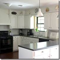 painting oak kitchen cabinets whiteRemodelaholic  Painting Oak Cabinets White and Gray