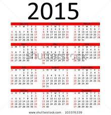 Simple 2015 Calendar Simple 2015 Calendar With Red Bar Eps 10 By Paul Stringer Via