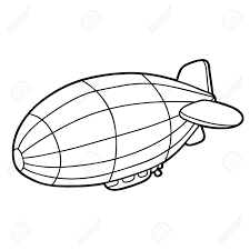 Hot Air Balloon For Coloring Page Royalty Free Cliparts Vectors