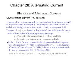 alternating current examples appliances. chapter 28: alternating current phasors and currents  (ac current) examples appliances e