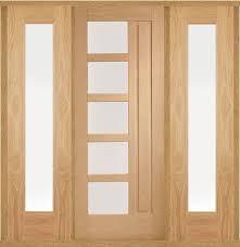 lucca oak front door with sidelight s