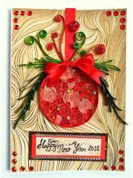 Christmas Ball New Year Handmade Greeting Card