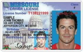 Driver License Plates mo gov S