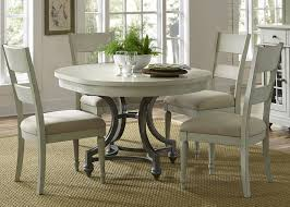 liberty furniture harbor view iii 5 piece round dining set in dove gray by dining rooms