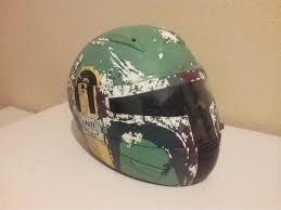 my boba fett motorcycle helmet work in progress starwars