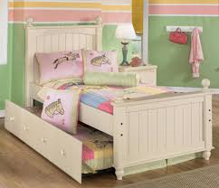 ashley furniture kids bedroom white sets cottage white bed frame twin be equipped qith twin bed frame with slide out tr