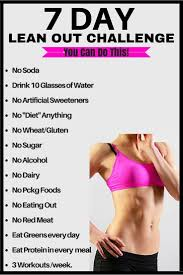 7 day lean out challenge posted by customweightlossprogram lose fat fast