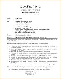 Example Of Office Memorandum Letter Sample Internal Office Memorandum Example Of An Letter Memo