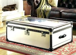 white trunk coffee table antique aluminum storage chest uk full size