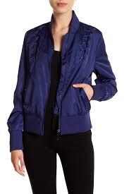 image of sam edelman lace up cropped er jacket