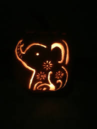 Elephant Pumpkin Carving Pattern Delectable Cute Elephant Pumpkin Carving ғαʟʟ Pinterest