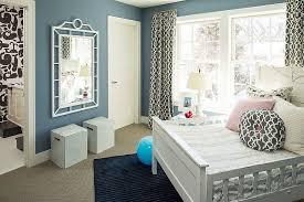 beach style kids room with bluish gray walls design martha o