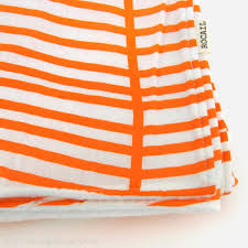 tangerine and white baby blanket  large chevron colorful nursery