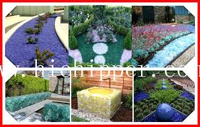crushed glass landscape ocean blue landscaping natural sea glass rocks for decoration crushed glass landscape mulch