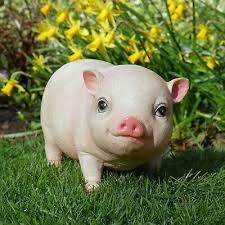 pink pig sculpture farmyard animal