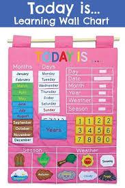 Today Is Learning Wall Chart Preschool Preschoolers Prek