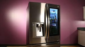 lg refrigerator instaview. knock on lg\u0027s \u0027instaview\u0027 fridge and it\u0027ll show you your groceries lg refrigerator instaview w