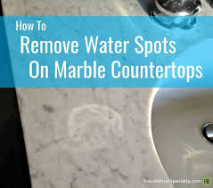 water spot etch mark on marble text overlay how to remove water spots on