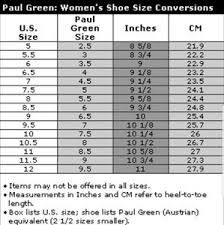 Paul Green Shoe Size Chart Paul Green Jansen Lace Up Peep Toe