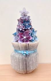 bev s bookfolding folded book vase with paper flowers