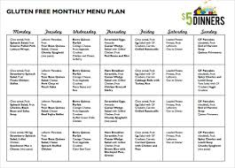 Monthly Menu Template Magdalene Project Org