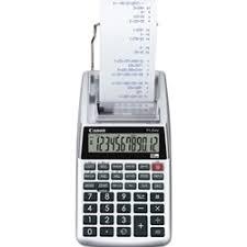 Canon P1dhv3 Compact Printing Calculator Calculator Prt 12dgt Tx Clk Silver Ea