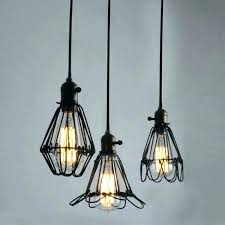 industrial cage work light chandelier lighting s vancouver