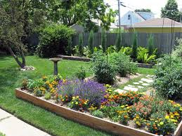 Small Picture Large Backyard House Design With Wood Raised Bed With Various