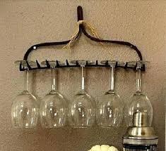 diy wine glass holder old rake wine glass holder go sampling wine glass holder old rake