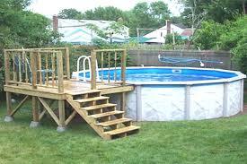 50 unique design above ground pool deck designs ideas of