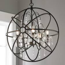 beautiful metal sphere chandelier 4 crystal and orb jpg c 1494600328