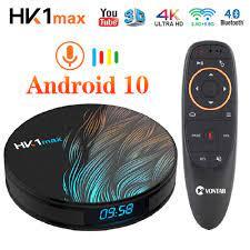 2020 akıllı TV kutusu Android 10 10.0 HK1 Max 4GB 128GB Rockchip 4K TVBOX  Youtube Wifi Android TV seti top Box medya oynatıcı|Set-top Boxes