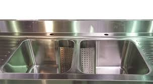1 8m commercial stainless steel double bowl double drainer sink 600mm deep