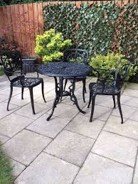 shabby chic patio furniture. cast aluminium black metal garden patio furniture table and chairs shabby chic