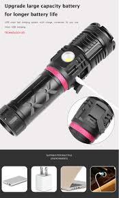 Đèn Pin XHP120 + COB Đa Chức Năng Chói Đèn Pin Chống Nước Phóng To USB 3  Màu Đèn Pin Đèn Pin Đèn Chiến Thuật|Đèn Flash & Đèn Pin