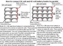 24 volt 48 volt battery banks in parallel bmp (654�482 how to connect 4 12v batteries to make 48v at Battery Bank Wiring Diagram