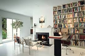 Modern home library design Modern Bedroom Modern White Shelving Architectural Digest 35 Home Library Ideas With Beautiful Bookshelf Designs