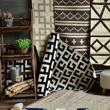 Fine Modern Carpet Texture Kilim 100 Cotton Handmade Geometric Bohemia Indian In Creativity Design