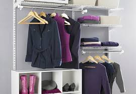 closet with organization