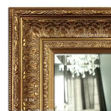 Wood wall mirrors Bedroom Elegance Ornate Embossed Antique Gold Framed Wood Wall Mirror West Frames Wall Mirrors West Frames
