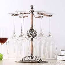 2019 metal wine glasses rack holder 6 hooks wine cup hanging holder goblet display stand bar kitchen tools from household 2 8 85 dhgate com