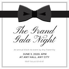 Customize 1 013 Black Tie Invitation Templates Online Canva