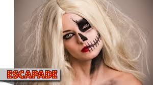 half skull face makeup tutorial makeup ideas you