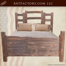 Western Style Cedar Bed Set, Custom Wood Furniture   BSY900