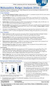 Maharashtra Budget Analysis Pdf