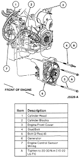 how do you replace the ac compressor on a 1996 ford taurus exploded view of the alternator mounting 3 0l and dohc engines
