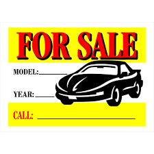 auto for sale sign the hillman group 10 in x 14 in plastic auto for sale sign 842116