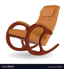 wooden rocking chair.  Rocking Wooden Rocking Chair Vector Image In Rocking Chair H