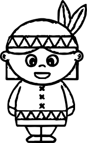 Native American Coloring Pages Printable Stunning Indian 14